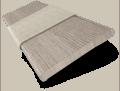 Vermont Metropolitan Grey Mist & Glacier Wooden Blind - 50mm Slat slat image