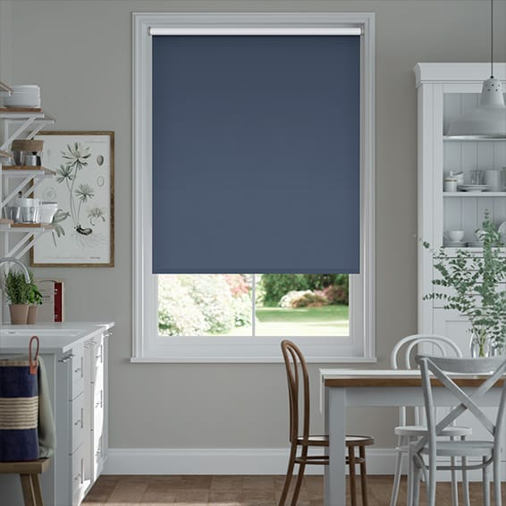 Verona Blackout Navy Roller Blind