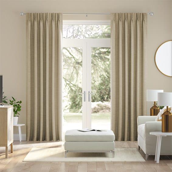 Vicenza Faux Silk Bisque Curtains
