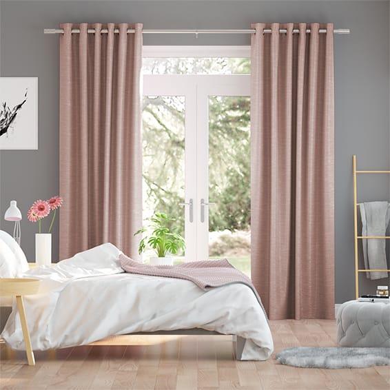 Vicenza Faux Silk Blush Curtains