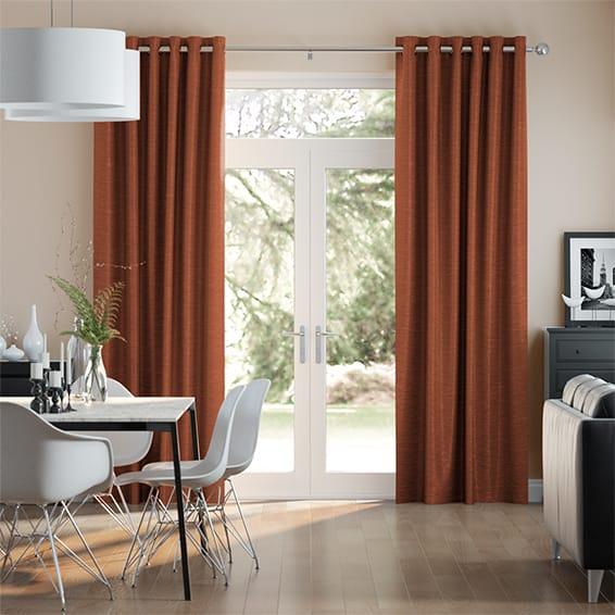 Vicenza Faux Silk Burnt Copper Curtains