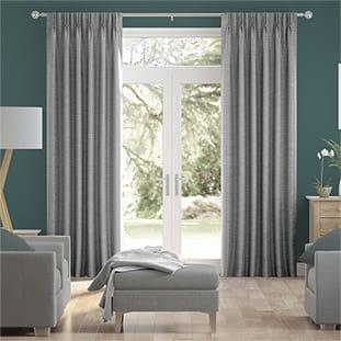 Vicenza Faux Silk Grey Curtains thumbnail image