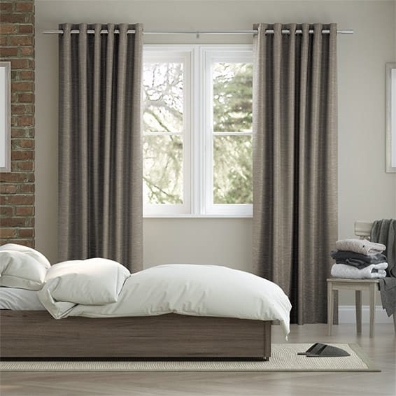 Vicenza Faux Silk Grey Stone Curtains