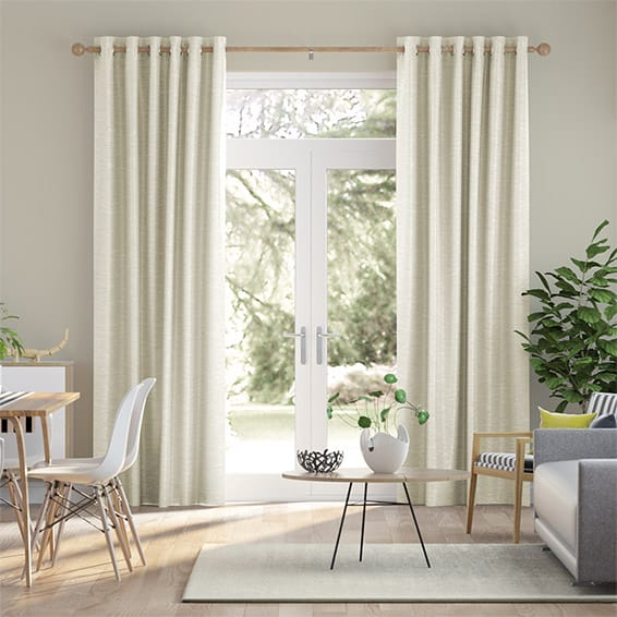 Vicenza Faux Silk Ivory Curtains