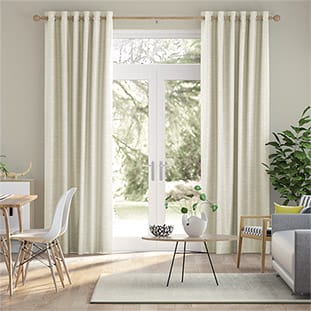 Vicenza Faux Silk Ivory Curtains thumbnail image