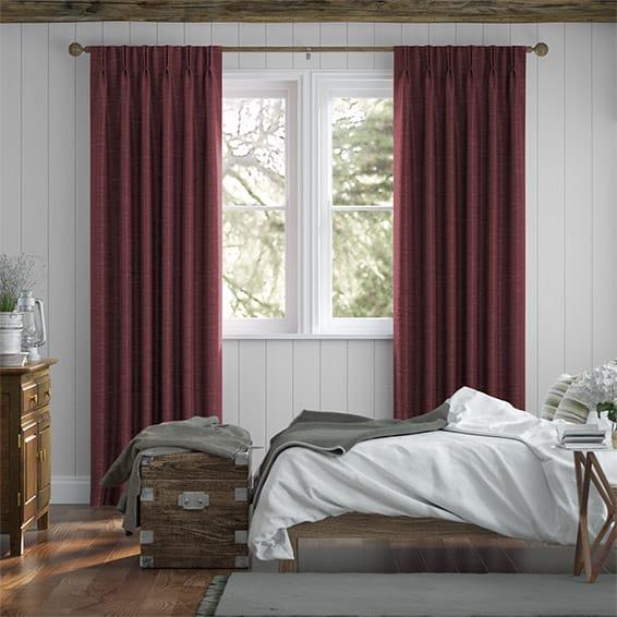 Vicenza Faux Silk Merlot Curtains