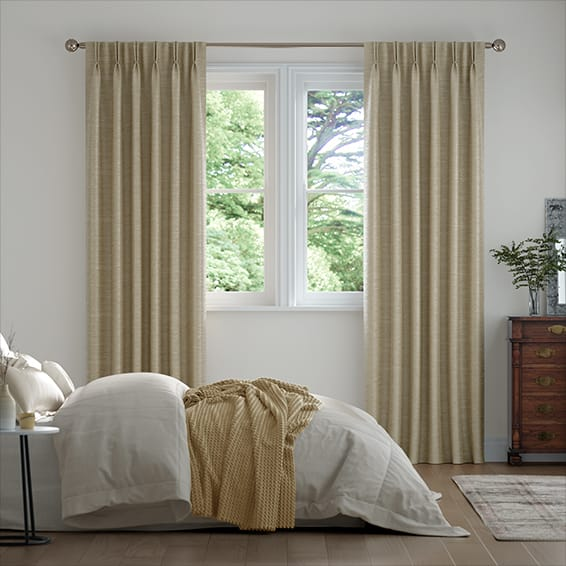 Vicenza Faux Silk Mocha Curtains