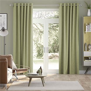 Vicenza Faux Silk Olive Curtains thumbnail image