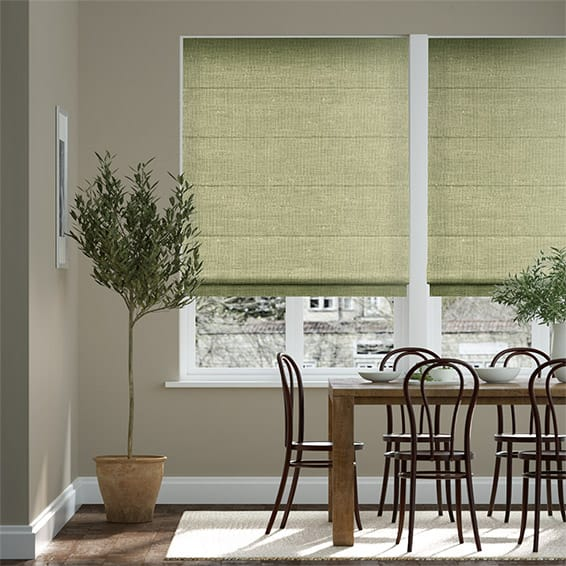 Vicenza Faux Silk Olive Roman Blind