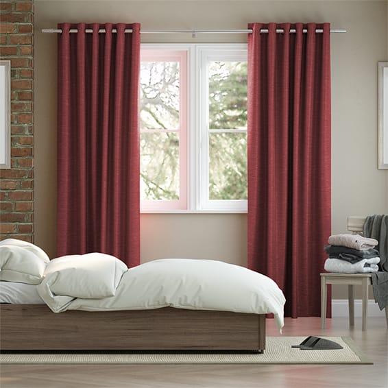 Vicenza Faux Silk Sangria Curtains