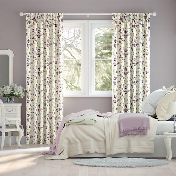 Wallflower Purple Curtains