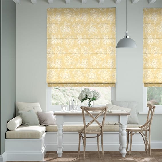 Washed Rose Ochre Roman Blind