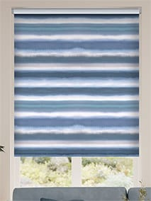 Watercolour Stripe Blue Roller Blind thumbnail image