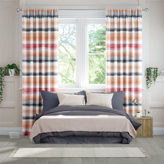 Watercolour Stripe Blush Curtains