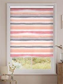 Watercolour Stripe Blush Roller Blind thumbnail image