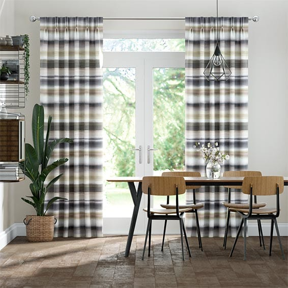 Watercolour Stripe Pebble Curtains