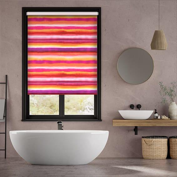 Watercolour Stripe Sunset Roller Blind