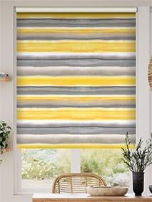 Watercolour Stripe Ochre Roller Blind thumbnail image