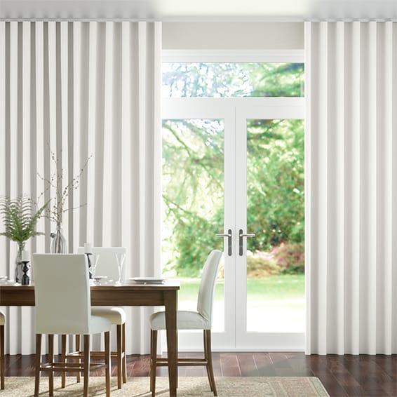Wave Acantha Snow White Curtains
