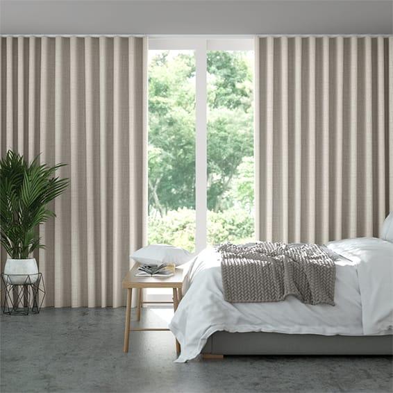 Wave Acantha Warm Grey Curtains