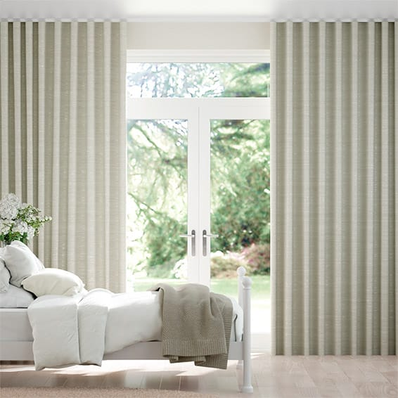 Wave Ahisma Luxe Faux Silk Oyster  Curtains