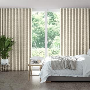 Wave Alcyone White Gold Wave Curtains thumbnail image
