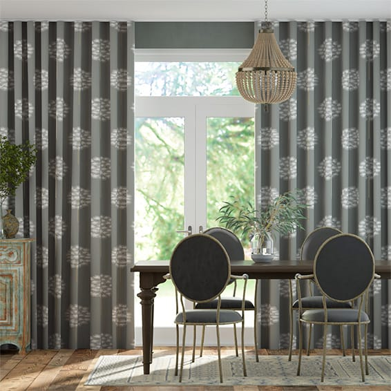 Wave Amity Charcoal Curtains