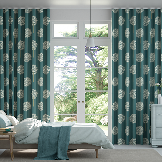 Wave Amity Ink Curtains