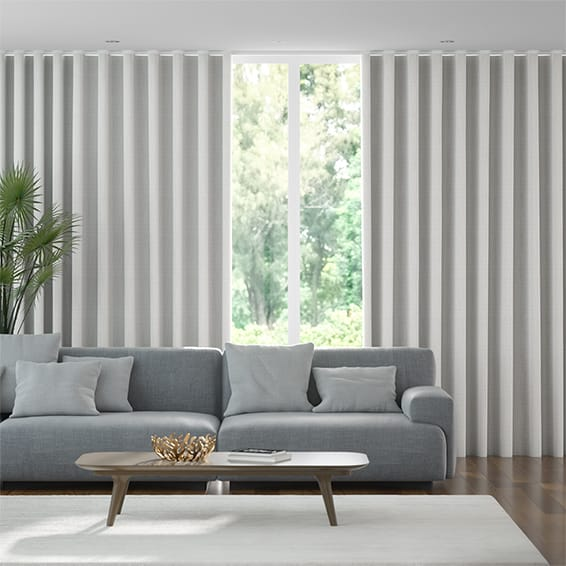 Wave Amore Silver Curtains