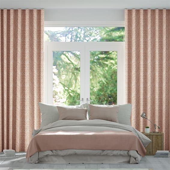 Wave Armeria Blush Curtains
