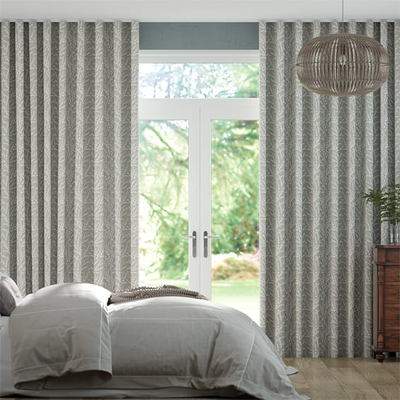 Wave Armeria Pewter Curtains