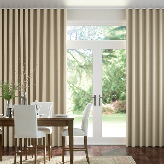 Wave Berber Basket Beige Curtains
