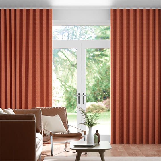 Wave Berber Pumpkin Curtains