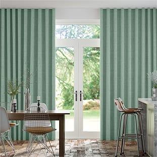 Wave Bijou Linen Aqua Wave Curtains thumbnail image