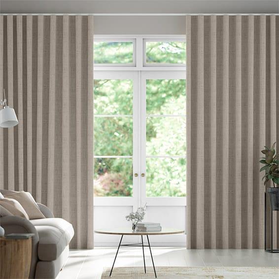Wave Bijou Linen Grey Wash  Curtains