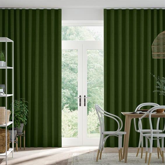 Wave Bijou Linen Pear  Curtains