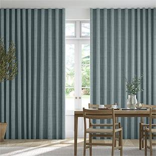 Wave Bijou Linen Sky Wave Curtains thumbnail image