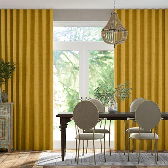 Wave Bijou Linen Sunflower  Curtains