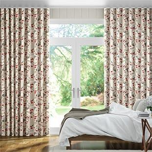 Wave Bursting Berries Linen Cherry Pop Wave Curtains thumbnail image