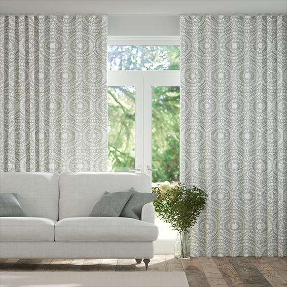 Wave Cadencia Silver Curtains