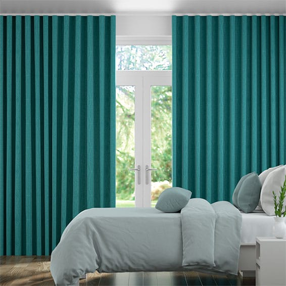 Wave Cavendish Caribbean Blue  Curtains