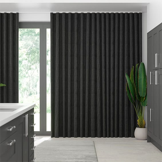 Wave Cavendish Charcoal  Curtains
