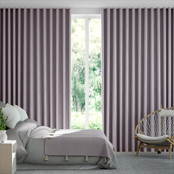 Wave Cavendish Heather  Curtains
