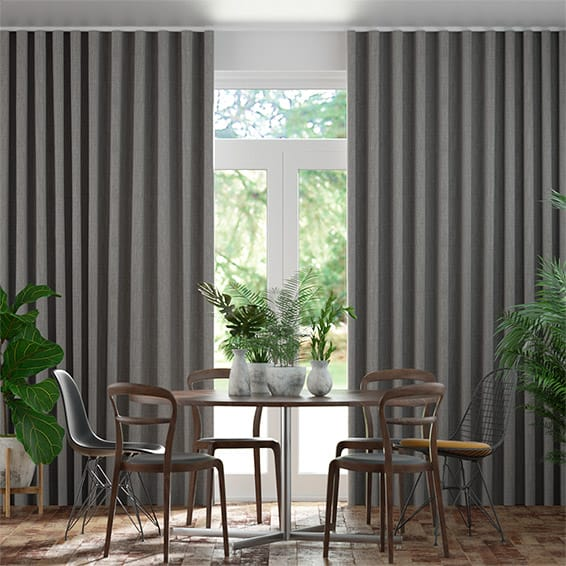 Wave Cavendish Tonal Grey  Curtains