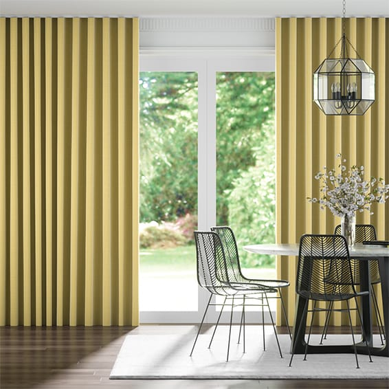Wave Chalfont Mustard Curtains