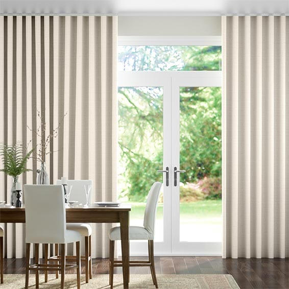 Wave Chalfont Natural Grey Curtains