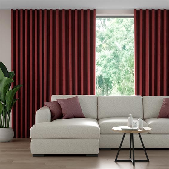 Wave Chalfont Scarlet Curtains