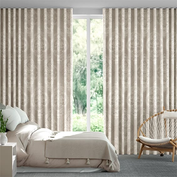 Wave Chantilly Natural Curtains
