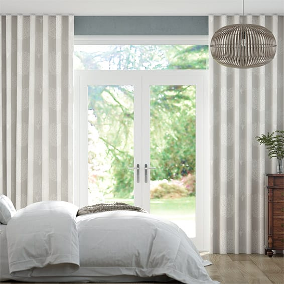 Wave Coraline Natural Curtains