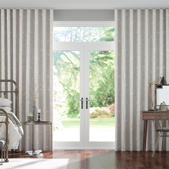 Wave Dawn Chorus Linen Curtains